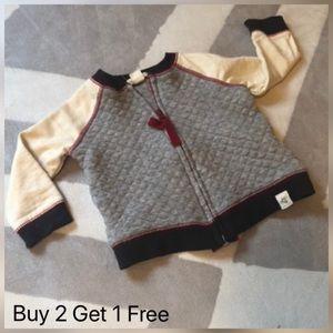 Burt's Bees Baby Zip Up Sweatshirt NWOT